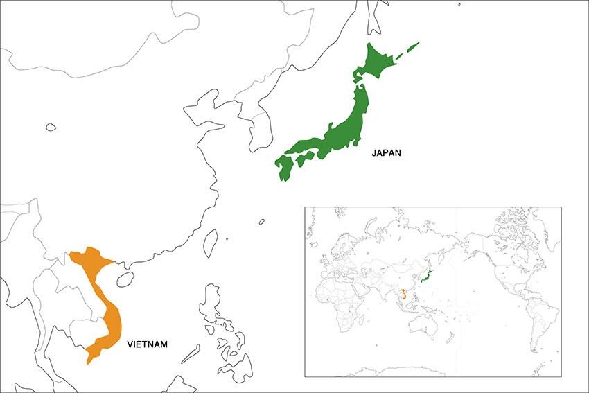 map_japan_and_vietnam